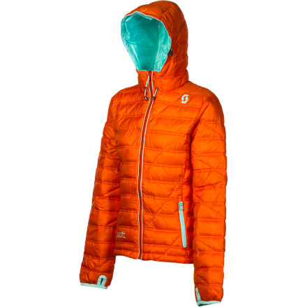 Level-up your layers with the fully reversible, ultra-versatile Scott Women's Antigo Insulated Jacket. It's lightweight but warm as a toaster-oven, with a full-time hood, drawcord hem, and thumbholes in the cuffs. The synthetic down-like insulation won't clump or freeze when wet and is compressible enough for easy, nonbulky layering. And its two-in-one switcheroo feature means perfect pairing with different shells. - $122.47