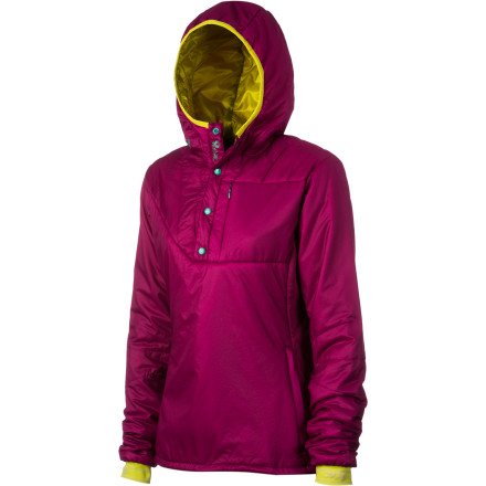 Ski Wind might whip at your flanks and try to tug at your warmth, but the Stoic Women's Luft 60 Anorak shrugs off the cold weather with ease. This half-zip packs a heavenly dose of synthetic insulation that's not only lightweight but also low-bulk, making it a prime choice for your ski-touring pack or backpacking bag. Fine touches like wrist gaiters and highly-breathable liner material further the capabilities and protection offered by this toasty insulating piece. - $159.00