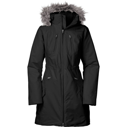 Instead of going overboard with the layering and looking like an overstuffed sausage, let The North Face Women's Insulated Sumiko Jacket warm your core and keep you looking fashionably stylish in the colder months. - $175.97