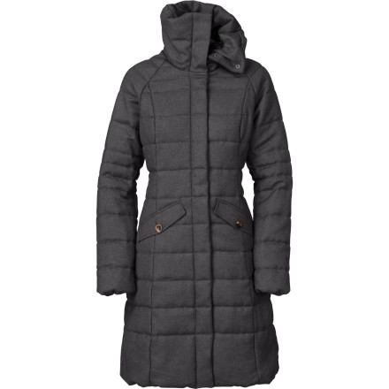 Stay cozy and chic throughout your commute to work or school with The North Face Women's Hannah Wool Insulated Jacket. Packed with PrimaLoft insulation and stylish details, the Hannah ensures you stay plenty warm when the frigid gusts of winds send everyone else scrambling indoors. - $199.48