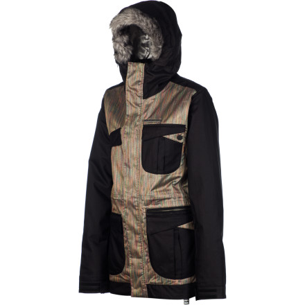 Snowboard If you've ever drooled over pro-rider Jamie Anderson's sense of mountain style, you'll be more than stoked to put on the Billabong Women's Jamie Anderson Jacket. This global signature jacket features waterproof protection, a rider fit, and all the necessary snow-jacket features to keep you riding from bell to bell. - $90.98