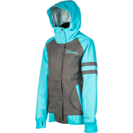 Snowboard Whether or not you're old enough to remember retro when it wasn't retro, you'll appreciate the old-school style of the Billabong Women's Sandy Jacket. The Sandy has a fitted silhouette which makes it easy to wear both on and off the slopes and cozy insulation that boosts the heat factor mid-winter. - $103.48