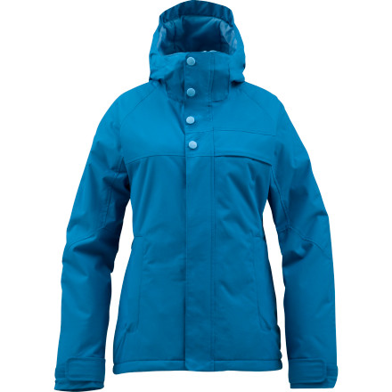 Snowboard The Burton Womens Method Snowboard Jacket packs warmth around your core without inhibiting your ability to rip thanks to zonal construction and a streamlined shape. Wear this jacket when you want extra protection from the cold but you don't want to feel like you're burritoed in a bulky mess of padding. - $84.98