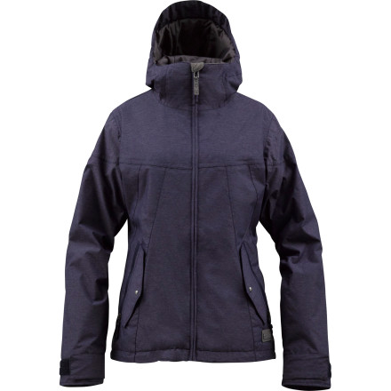 Snowboard Get streetwear style with mid-winter function in the Burton Penelope Women's Snowboard Jacket. The heathered twill fabric that has a subtle denim look to it and also repels snow and water in harsh conditions, so you stay dry and warm whether you're searching for untracked pow or aprs drink specials. - $94.98