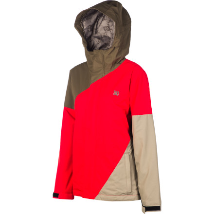 Snowboard Drop bombs in the park in the DC Fuse 13 Women's Snowboard Jacket. The durable midweight twill fabric will hold up to abuse from falls and keep you dry, and 80g insulation adds warmth without bulk to keep you toasty without restricting movement, so you can still throw down on boxes and jumps. - $75.00