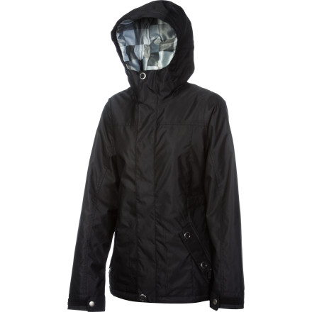 Snowboard The Foursquare Women's Artisan Jacket holds winter at bay with two-layer Microshield construction, 10K-rated waterproofing, a fixed hood, and a full palette of tech features to help you create a masterpiece of artful riding on the hill. - $89.98