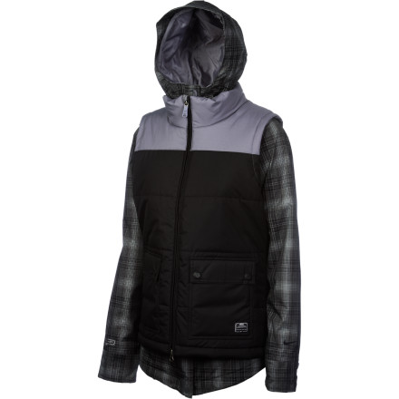 Snowboard The Nike 6.0 Women's Bellevue Jacket may look like it was designed by tech-savvy, fashion-driven shred junkies, but that's just because it was. This jacket manages to combine a street look with legit features to keep you looking hot on the hill and feeling great while you ride. - $119.98