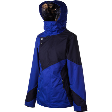 Snowboard The Oakley Women's Permanente Jacket will keep you warm and dry while you ride out the storm, and when you step into the hot, stuffy tram, you'll be happy that this little beauty features two large underarm vents to help you control your temperature. Don't let its simple, clean aesthetic fool you into thinking that this winter jacket lacks anything you'll need for resort skiing, it's actually packed with technical details. Zip up the Permanente for everyday shredding and moderate storms. - $175.00