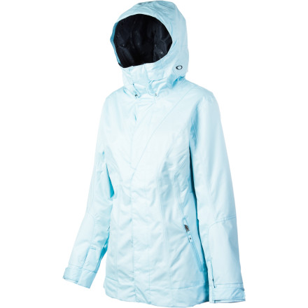 Snowboard As you float through deep snow, the Oakley Women's Resilient Jacket shrugs off light fluff and surrounds you with just enough insulation to keep you warm without overheating. Oakley kept the style clean and the fit loose because it knows that even after you hammer out some tram laps at the resort, you'll rock this jacket around town. - $140.00