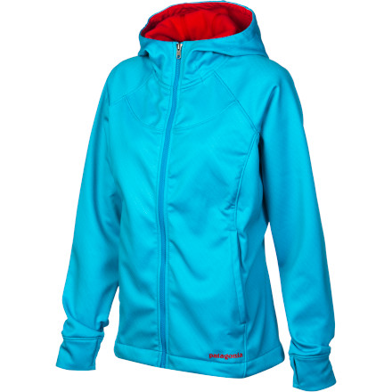 Snowboard Spring has tried multiple times to boot you off the mountain, but as long as you're armed with your Patagonia Women's Slopestyle Hoody, you aren't going anywhere. This lightweight softshell keeps you comfortable in the sun while shedding moisture. A microfleece lining stands in as an extra layer of toastiness and softness, while cuff thumb loops prevent sleeve bunching no matter how many high-fives you dish out. - $97.30