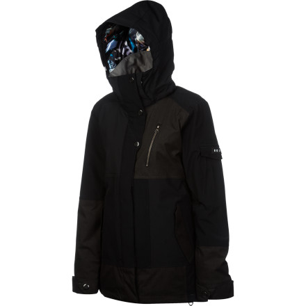 Snowboard Don't get bogged down with the Homeschool Everglade Women's Snowboard Jacket on. QuikTech fabric breathes while keeping you protected from the elements so you stay dry all day. Thinsulate insulation helps maintain warmth on cold mornings, and underarm vents prevent you from overheating when the sun comes out. - $100.00