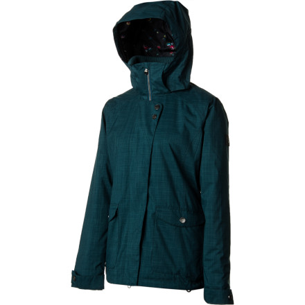 Snowboard Upgrade from your duct-taped old winter coat to the Roxy Women's Raven Jacket. Designed for fair-weather riding, this stylish, long, and slim-fit jacket features cozy Thinsulate insulation throughout, mesh-lined underarm vents, and a plethora of pockets to store your small riding essentials. - $76.00