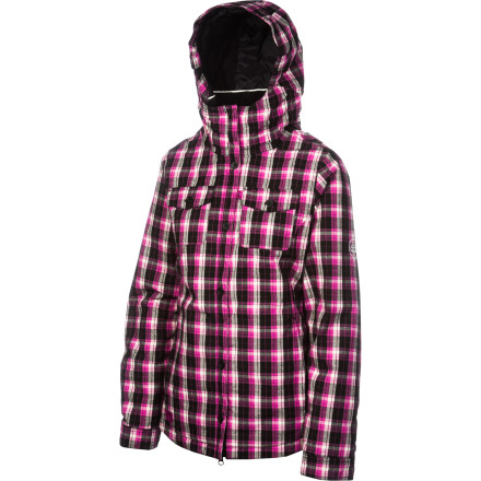 Snowboard Toasty warmth without restricted movement' Check. Infindry-10 waterproof technology' Check. The aesthetic of a button-down flannel and functionality for foul weather' Check! The 686 Women's Reserved Tonic Insulated Jacket may look like a piece you would wear with your favorite skinny jeans to get coffee (and nobody is saying you can't) but it brings all the tech to the table to keep you making laps on the hill in all conditions, staying dry and smiling all the while. - $110.00