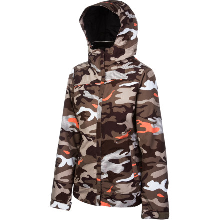 Snowboard Sneak up on pow stashes and park features with the 686 Mannual Fluid Insulated Women's Jacket. Infidry waterproofing keeps you from getting soggy after a couple falls, and the camo print helps you fly under the radar when ducking ropes for untracked lines. - $112.00