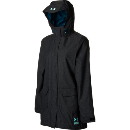 Snowboard Slide your arms into the Under Armour Women's After Forever Jacket, grab your ski poles, and head out the warming-hut doors for another round in the terrain park. Equipped with an ArmourStorm membrane, this winter shell helps shield you during moderate snow storms and wipeouts after missed landings. - $122.47