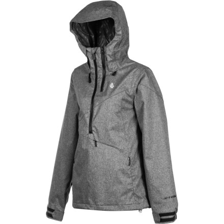 Snowboard Before you hit the hill, slide into your Volcom Women's Chanterelle Pullover Jacket and let this all-mountain jacket help keep the snow where it belongs: under your snowboard and not on your skin. Plus, the smart styling of this jacket will boost your swag on and off the mountain. - $80.48