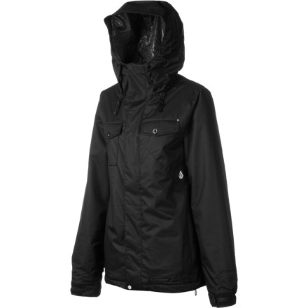 Snowboard Volcom's Genera Insulated Jacket combines minimalist styling with maximal-ist weather protection (yes, we DID just make that word up). Full-body insulation keeps you cozy, while the V-Science waterproof laminate and moisture-wicking lining ensure you stay dry both inside and out. - $109.98