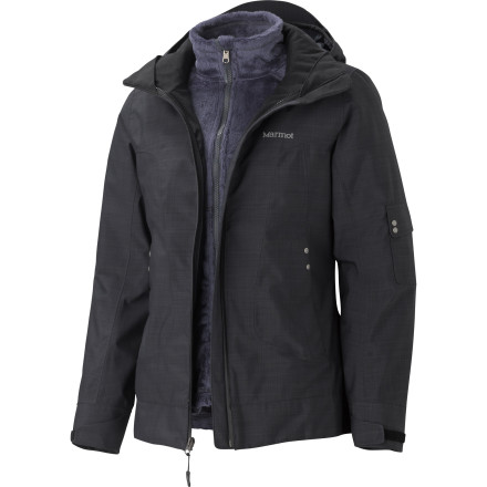 Ski Instead of packing a separate bag for all of your jackets, just pack the Marmot Women's Lindsey Component Jacket with you on your ski vacation. This three-in-one jacket allows you to use it in any type of mountain climate while fully protecting you from the harsh elements of winter. - $227.47