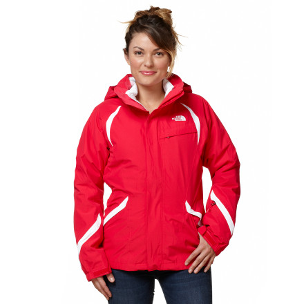 Designed with simple, smooth lines and three-in-one functionality, The North Face Women's Kira Triclimate Jacket takes you from the street to the snow. Use the shell jacket to fend off heavy, wet weather, and wear the wavy-quilting insulated liner jacket when bitter cold strikes. Both the removable insulator jacket and the shell feature The North Face's legendary attention to detail and quality that ensures this combo will last winter after winter. - $159.47