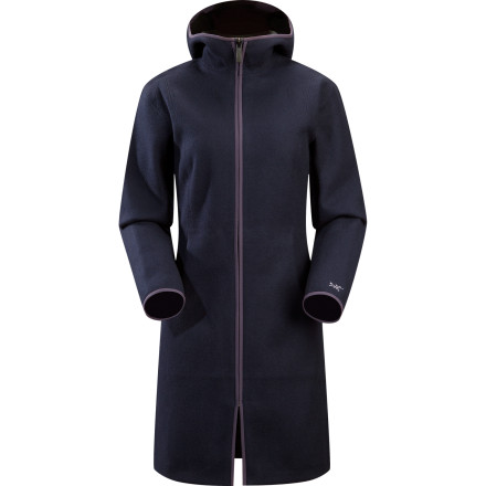 You've skied hard the last few days, so give your body a break, put on the Arc'teryx Women's Lanea Long Jacket, and check out the snow-covered village. Its trim fit shows off your curves while the Lanea's long length, wool fabric, and polyester fleece lining keeps you warm and cozy. - $279.27