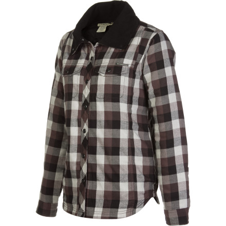 You'd like to bring a lightweight jacket on your travels, and you're looking for something that'll fit in at local cafs and markets. Grab the  Ex Officio Women's Pocatello Plaid Shirt Jacket. - $59.97