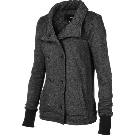 Surf A classic jacket like the Hurley Women's Greenwich Village Jacket can turn a simple T-shirt-and-jeans outfit into a stylish look that is perfect for dinner out or spur-of-the-moment date. - $52.09