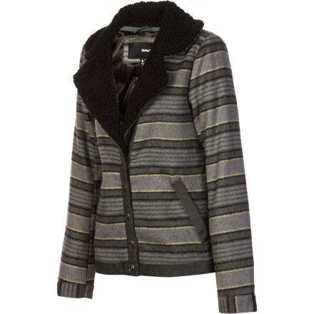 Surf The Hurley Women's McKenzie Jacket blends a classic cut with a rustic sense of style to create a look that is rugged yet fashionable. - $35.78