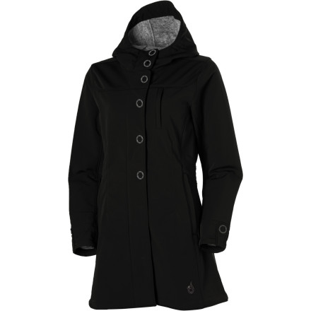 When it's slightly drizzly, slightly windy, or slightly chilly, slide into the Isis Queen City Coat. This long coat goes with work outfits, sightseeing outfits, and out-to-dinner outfits. - $139.27
