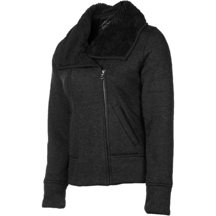 There are a lot of jackets that can keep you warm, but there aren't many that can beat back a brisk breeze with as much style as the prAna Grace Jacket. Clean design, blended wool, and plush Sherpa fleece work together to thwart the chill and create a look that is elegant yet understated. - $74.22