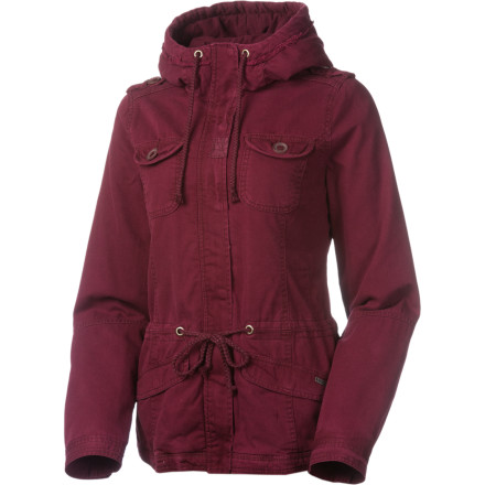 Surf When your sweater just isn't cutting it, toss on the Roxy Women's Cross Cliffs Jacket for extra warmth during your daily commute to school or work. - $53.70