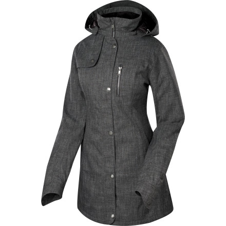 The Sierra Designs Women's Natasha Parka blends street-savvy style with a bit of mountain tech so you'll look great even when you're bundled up against the winter's worst weather. Whether you're braving a Manhattan blizzard or the frigid cold of a Salt Lake City winter, zip up in this long jacket when you want to stay warm around town. - $174.27
