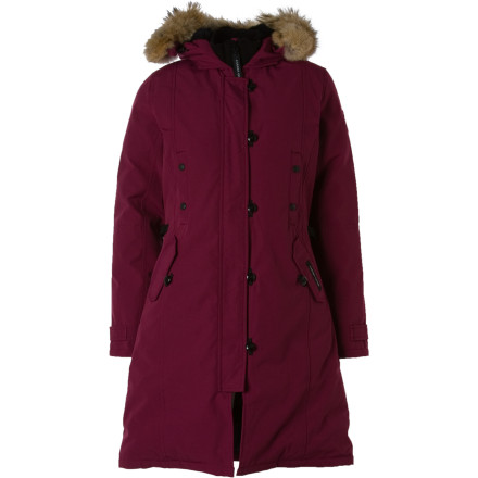 The Canada Goose Womens Kensington Parka marries luxurious style with high-tech performance to keep you warm and looking great in even the coldest temperatures. Wear this fashionable jacket around town during Park City's film festival or through Manhattan during an NYC blizzard. - $694.95