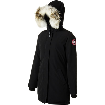 Wear the Canada Goose Women'sVictoria Down Jacket if you ever find yourself at a January fashion shows in Montreal or Stockholm, because you will need an insanely warm jacket to fend of the chill. But, you'll also need something insanely stylish to fend off judgmental glances from the fashion-savvy crowds. This parka combines superior cold-stopping materials with elegant design so don't have to worry about the cold or about sartorial insufficiency. - $649.95