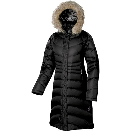 Dont be a shivering shut-in. Wrap yourself in the Isis Womens Snow Queen Down Coat instead of hunkering in front of the fire all by your lonesome while others frolic in snow. The long length, ample hood with faux-fur trim, and 650-fill down deliver the royal treatment and will keep you out and about in the cold. And when the sun sets and streets empty, it will be just you and a winter wonderland. - $164.42