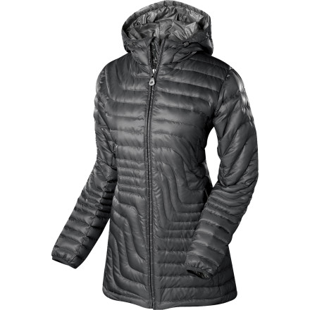 Camp and Hike Snuggle out of your sleeping bag and into the Isis Women's Slipstream Hooded Down Jacket, and start a fire in the wood-burning stove. This 800-fill power down jacket keeps you cozy and warm until the backcountry cabin starts to warm up and the sun begins to melt the night's frost from the windows. - $174.27