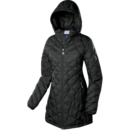 No need to get riled up about winter-weather protection; settle into the comfy, cozy 650-fill down insulation beneath DWR water-resistance in the silently strong Isis Women's Whisper Down Coat. An ample hood, drawcord hem, and long length guarantees warmth when Old Man Winter blows in. And a beautifully quilted exterior lined with a festive, floral print keep you happy and breathing the crisp, fresh air all season long. - $160.27