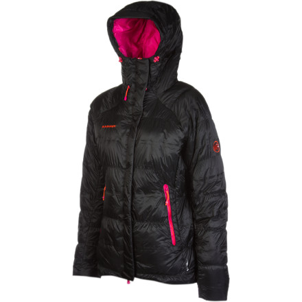 Fitness When things get really chilly, zip up the Women's Mammut Biwak Down Jacket for the unmatched warmth of 800-fill goose down. The innovative double chamber construction eliminates the cold spots that typically plague down jackets, and Fibrefill body mapping inserts on the back and underarms work to transfer perspiration to where it can evaporate. Adjust the hem and hood for a snug fit, then enjoy the scenery on freezing cold days that would have normally sent you running for shelter. - $499.95