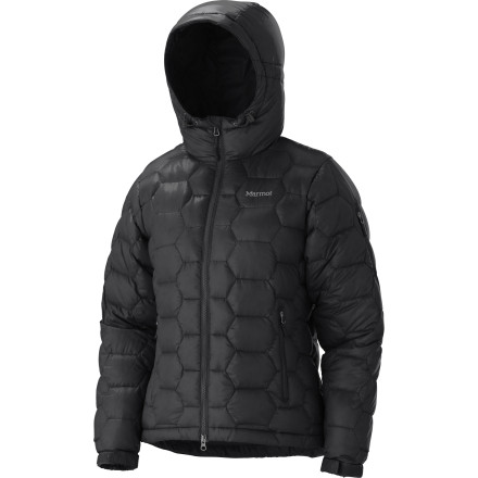Motorsports Some 800-fill down jackets have insane puffiness going on. The Marmot Women's Ama Dablam Down Jacket, however, does not. Hexagon-shaped seams on the Ama Dablam help maintain a low profile. - $174.97