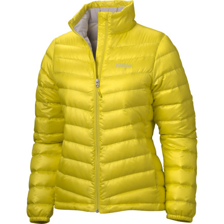 Built for warmth, the Marmot Women's Jena Down Jacket is a must-have on any cold-weather excursion or downtown adventure. Complete with 800-fill goose down, the Jena packs a surprising amount of warmth into a trim fit at a light weight. Keep your fingers warm in zippered hand pockets while you peruse cold weather campsites or shop windows. - $194.95
