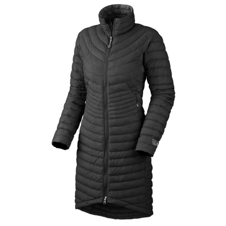 Camp and Hike Cutting leg holes in your down sleeping bag and then shuffling around town all day sounds like a drag. The Mountain Hardwear Citilicious Coat's 650-fill down insulation and long length sound like a more comfortable and way more sightly option. - $178.72