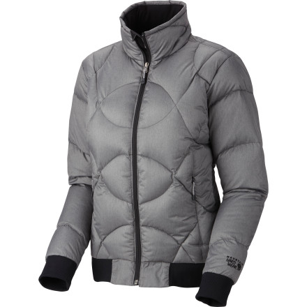 Upgrade from your duct-tapped puffy to the Mountain Hardwear Women's Caramella Down Jacket. Its 650-fill goose down insulation gives you just the right amount of warmth, while its feminine cut and stylish features up the chic when you're strolling around the mountain village. - $142.97