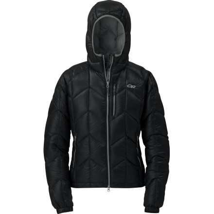 The Outdoor Research Women's Incandescent Hooded Down Jacket is the go-to puffy you should always bring along during the colder half of the year. The 800-fill goose down provides incredible warmth, the entire jacket weighs in at under a pound, and the down makes it compressible enough to be stuffed into its own front pocket so you can always fit it in your pack. - $178.72