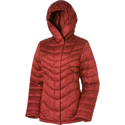 For urban adventures during winter, slip on the Patagonia Womens Downtown Loft Jacket. This goose-down coat surrounds you in soft, puffy goodness so you stay toasty in Chicago, New York, or Denver. The Downtown Lofts satiny shell sheds light precipitation and blocks the wind. The below-the-hip length, contoured cut, and shawl collar give the Downtown chic style that fits in uptown or mountain town too. - $195.30