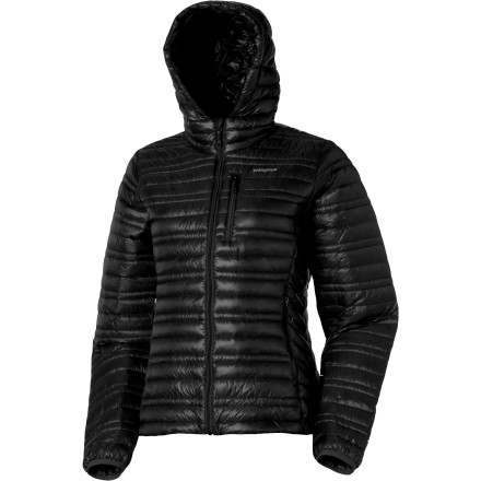 The Patagonia Ultralight Down Hoody Jacket keeps you extra cozy and warm on those chilled-to-the-bone winter days. - $194.35