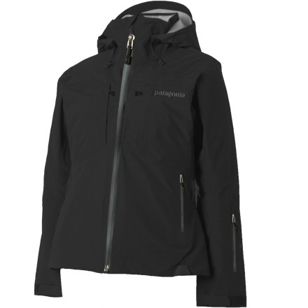 Ski Patagonia's warmest freeride Jacket, the The Womens Primo Down, is serious about every aspect of winter ridingweather protection, warmth, and breathability. Welded seams and waterproof nylon fabric block moisture so you dont have to limit your puffy to clear-sky days, and ventilating mesh panels suspend the 700-fill down liner so you wont overheat on tough mogul runs (air circulates between liner and shell). Snap the powder skirt, stash your MP3 player in the insulated left chest pocket, and pull up the lightly insulated hood. - $356.95