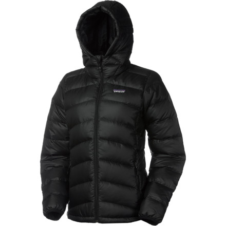 Premium European goose down helps the Patagonia Women's Hi-loft Hooded Down Sweater live up to its name. Wrap yourself in a cloud of luxuriously lightweight warmth every time you zip on this puffy and pull the hood over your head. - $279.00
