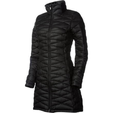 The Patagonia Women's Fiona Down Parka lets you stick it to Old Man Winter. Instead of either hiding inside or bumbling around town in an oversized puff-jacket, you can slide into this sleek, warm down parka. Curved quilting keeps the 800-fill down in place and adds urban style, and the recycled polyester with Deluge DWR coating keeps flurries and light snow from soaking through while you enjoy the winter wonderland. - $299.00