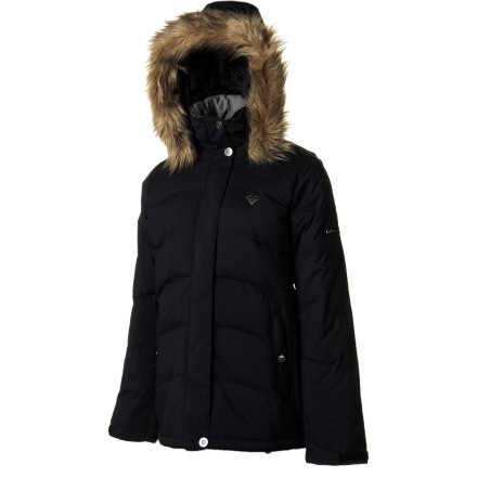 Surf Whether you're on the slopes, checking out the mountain village, or watching the holiday fireworks, beat the winter chill with the Roxy Women's Tundra Jacket. The 600-fill down insulation keeps you comfy and toasty, while its light weatherproofing fends off small flakes. Thanks to its long slim fit, faux fur trim, and classy style, you look like a down-to-earth snow princess without all the gaudy frills. - $115.00