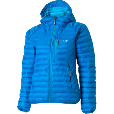 When it's your turn to belay, locate the RAB Women's Microlight Alpine Down Jacket in your pack, pull it out of its stow chest pocket, and slip into the warmth of 750-fill down. Superior-quality European goose down boosts your body heat without the bulky, heavy feel you get from excessive layers and synthetic insulation. - $239.95