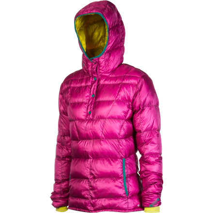 You crushed the boys on the skin track and beat them to the summit. Now, bust out the Stoic Women's Hadron Down Anorak and revel in the ultimate warmth of 850-fill Goose Down until the posse arrives. Highly-packable and feathery-light, this down jacket easily stashes away inside your pack and takes up minimal room (about as much as a small water bottle) until you need it. Pop the insulated hood over your head, let the elastic wrist gaiters cinch around your wrists to keep out the draft, and hunker down; the men still look like they have a ways to go. - $179.00